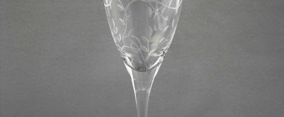 Breeze Clear Etched Goblet